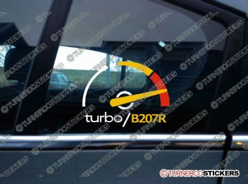 Turbo B207R, boost sticker / decal - for Saab 9-3, 2.0T (2003-2014)